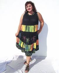 big on batik sale plus size tie dye swing dress plus size