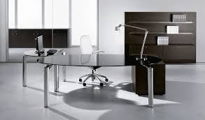 Modern Glass Desk With Drawers Glass Executive Desk With Drawers Modi Office Modi Prepare 14