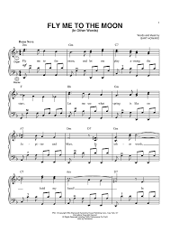 fly me to the moon in other words sheet for piano and