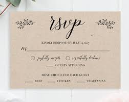 rsvp cards for wedding wedding rsvp cards template rustic printable wedding rsvp