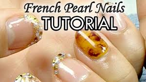 pearl french how to japanese nail art tutorial english subs