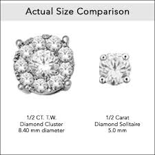 what size diamond earrings z trends jewelry