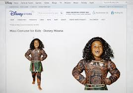 sports halloween costumes for girls disney pulls u0027moana u0027 halloween costume after accusations of racism