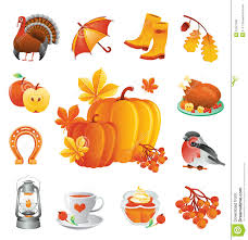 thanksgiving icons set stock vector illustration of november