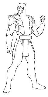 Coloriages Mortel Kombat Mortal Sub Zero Sketch By Coloriage Mortal