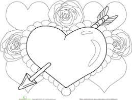 valentine heart worksheet education com