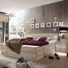 Schlafzimmer Bett Mit Led Bettanlage Mars Doppelbett Mit Led Nachtkommoden Bettschubkasten