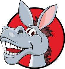 vector illustration donkey stock vector colourbox