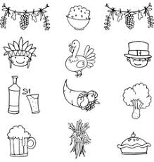 draw of style thanksgiving doodles royalty free vector