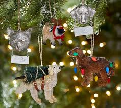 cat with personalizable tag ornament pottery barn