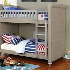 Furniture Of America Sascha Upholstered TwinTwin Bunk Bed Kids - Upholstered bunk bed