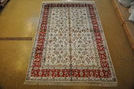 Area Rug White 6 X 9 White Red Tabriz Silk Area Rugs Handmade Silk Decorative