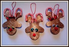 double treble craft adventures candy cane reindeer ornament craft