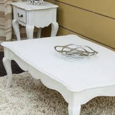 white vintage coffee table homescapes new orleans solid mango wood coffee table with cabriole