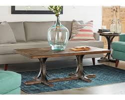 Trestle Coffee Table Traditional Iron Trestle Coffee Table We Ship Carolina