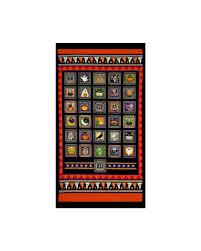 creepy hollow halloween patch 24 in panel black orange discount