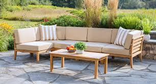 Teak Sectional Patio Furniture Bali Teak Sectional Set Madbury Road