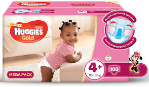 huggies gold huggies gold girl size 4 108 nappies buy online in south
