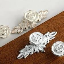 rose knob drawer knobs ceramic knobs dresser knobs unique