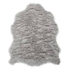 Imitation Sheepskin Rugs Buy Tesco Rugs Faux Sheepskin Rug Single Grey From Our Rugs Range