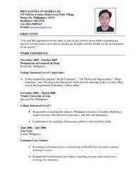 Sample Resume For English Tutor by Resume For Teachers Philippines Management Resume Summary Examples