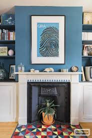 how to paint a fireplace surround and tiled hearth