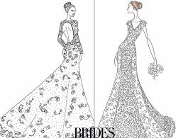 alfred angelo from bridal showdown wedding dress sketches for