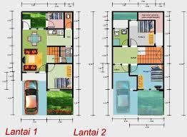 layout ruangan rumah minimalis 14 contoh gambar denah rumah minimalis 2 lantai 3d ukuran 6x10