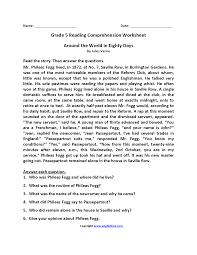 4th and 5th grade reading comprehension worksheets nara colors com