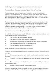 summary essay sample reflective essay introduction example in layout with reflective reflective essay introduction example in job summary with reflective essay introduction example