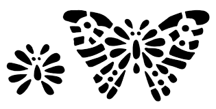 butterfly stencil clip design shop
