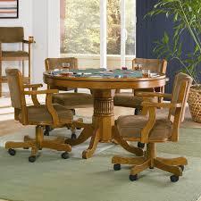 coaster mitchell oak game table 100951