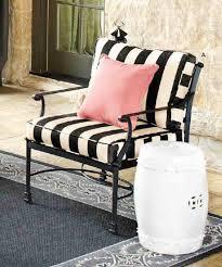 black striped patio chair u0026 white garden stool patio style