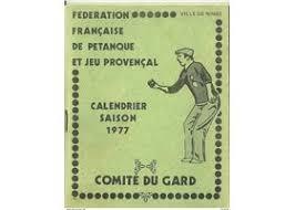 Calendrier Fdration Franaise De Vieux Papiers Pétanque 2 Objets De Collection à Vendre