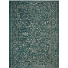 Safavieh Indoor Outdoor Rugs Safavieh Courtyard Turquoise 8 Ft X 11 Ft Indoor Outdoor Area