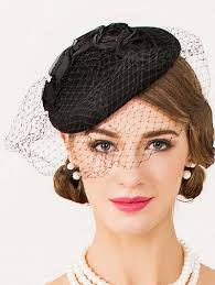 1940s hair accessories 2018 sororal party flower veil 1940s fascinator hat black in hats