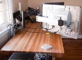 Schreibtisch 1m Triple Screen Höhen Tiefen Verstellbar Mit Langem Hebel