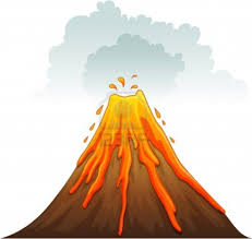 volcano cartoon drawing cartoon volcano volcano kleenex