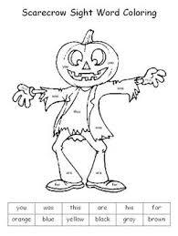 halloween color sight words klever kiddos tpt