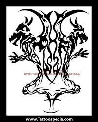 tribal gemini tattoos designs