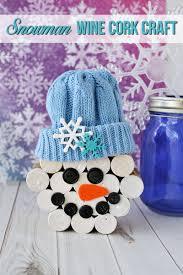 diy wine cork snowman crafts