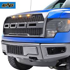 abs light on ford f150 eag front abs mesh grille charcoal gray with 3 amber led lights 09