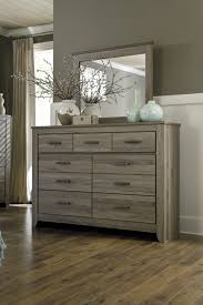 furniture bedroom dressers ashley furniture zelen dresser and mirror the classy home