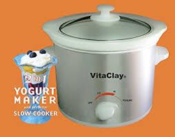 stoneware rice cooker vitaclay vs7600 2 stoneware yogurt maker and