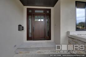 wood and glass exterior doors custom craftsman solid mahogany wood door with sidelites and