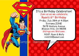 birthday invitation templates superman birthday invitations