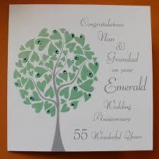 personalised emerald wedding anniversary card folksy