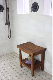 Small Teak Shower Stool Bahtroom Unique Teak Stool Bathroom Completing Rustic Seating