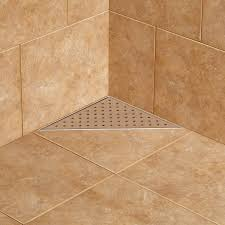 werner triangular shower drain bathroom