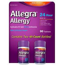 allegra 24 hour allergy relief 180mg 90 ct sam s club